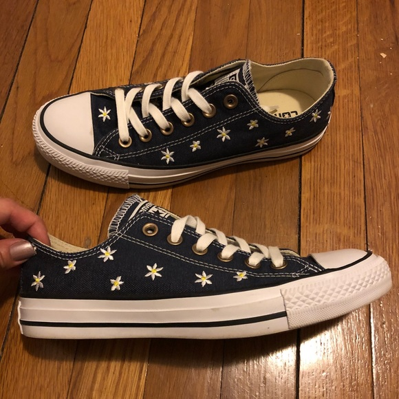 721b0c3d3798 Converse Shoes - NEW Converse All Star denim embroidered sneakers